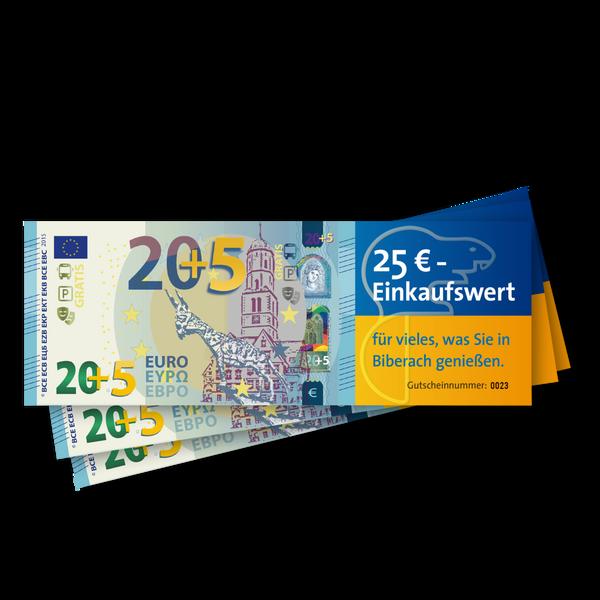 20 € Gutschein + 5 € gratis*